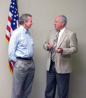 Congressman Kuhl visits with Supervisor Yudelson